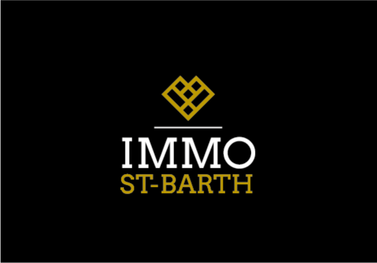 Logo IMMO ST-BARTH fond noir