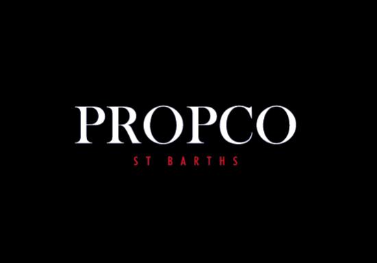 Logo Propco St Barths fond noir