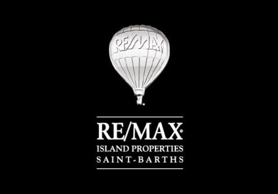 Logo RE/MAX Island Properties Saint-Barths fond noir