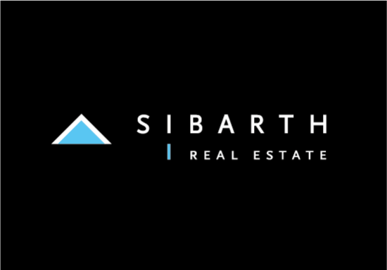 Logo SIBARTH REAL ESTATE St Barth fond noir